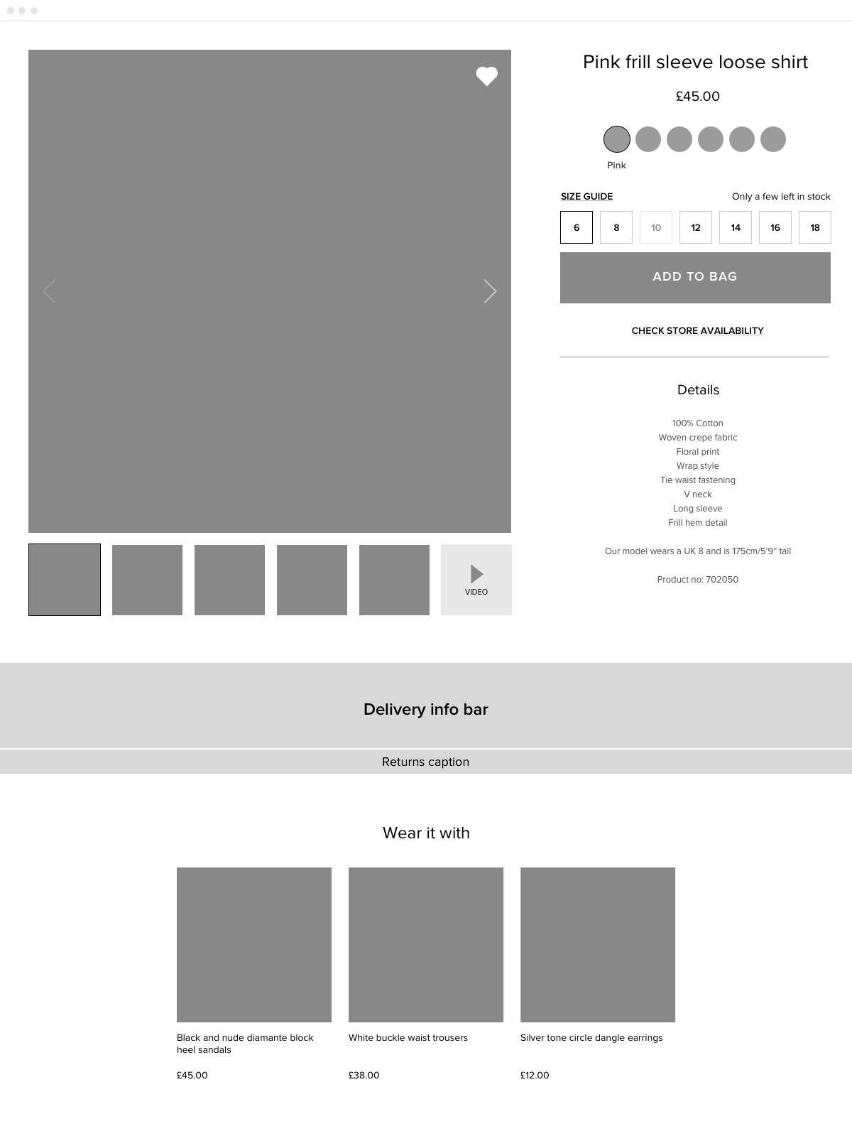 PDP Wireframe